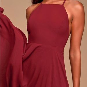 LULU's mythical kind of love red wine maxi - sz s